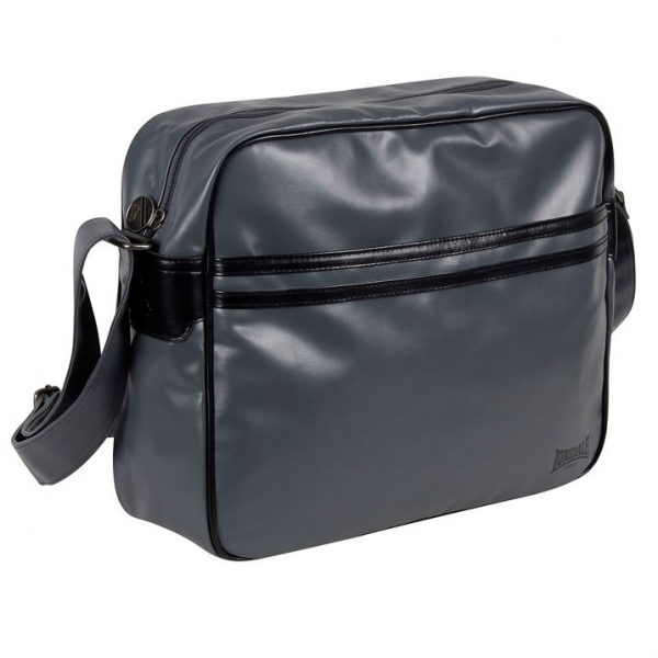 Hey! Stay with us... Lonsdale 2 Striped Flight Bag Charcoal c94f04bb97435