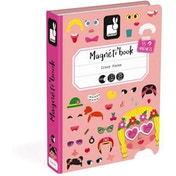 Janod Magneti'Book Crazy Faces Game - Girl Version