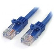 StarTech 1m Cat5e Blue Snagless RJ45 UTP Cat 5e Patch Cable - 1m Patch Cord