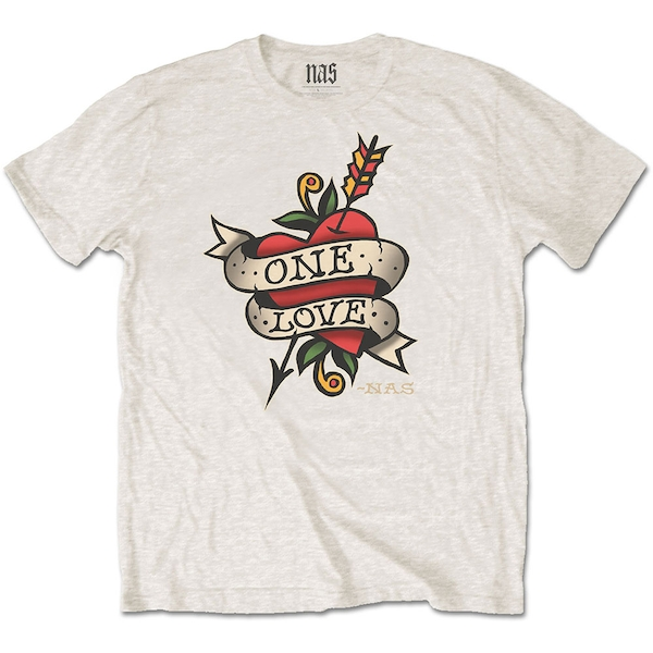 Nas - Love Tattoo Men's X-Large T-Shirt - Natural