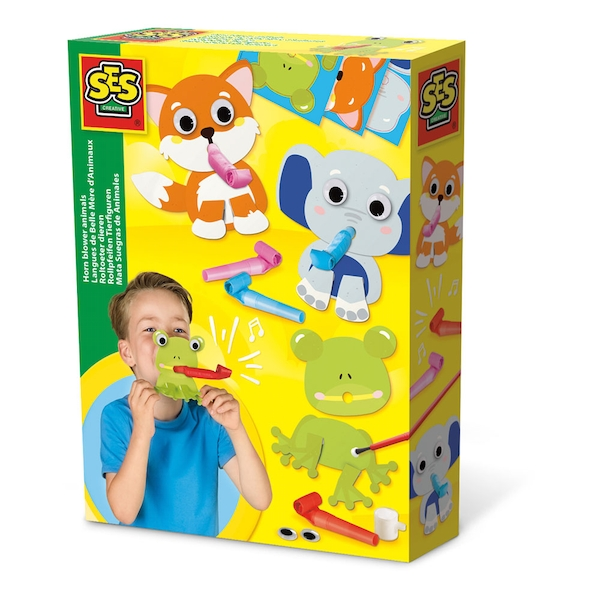 SES Creative - Children's Horn Blower Animals (Multi-colour)