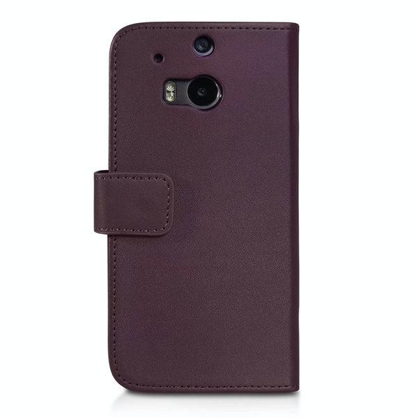YouSave Accessories HTC One M8 Leather-Effect Wallet Case - Purple - Image 2