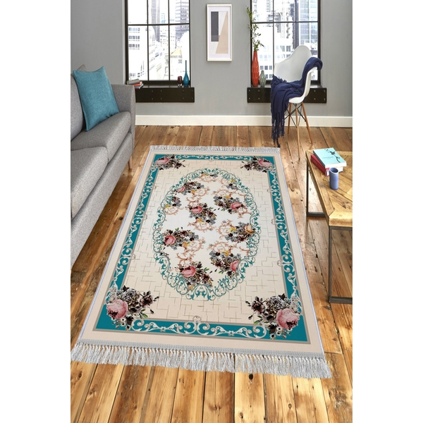 599HFT1913 ELS1845 - Turquoise Multicolor Rug (80 x 200)