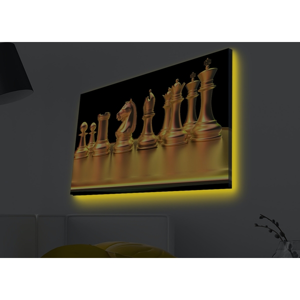 4570MDACT-034 Multicolor Decorative Led Lighted Canvas Painting