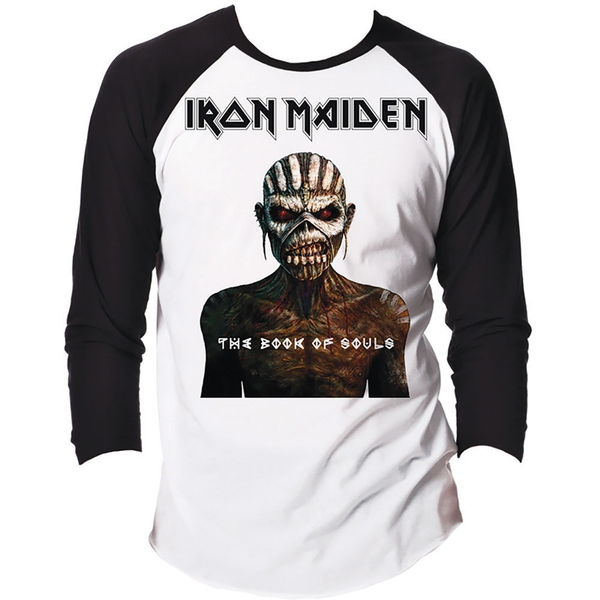 Iron Maiden - The Book of Souls Unisex Small T-Shirt - Black,White