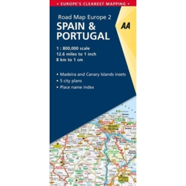 2. Spain & Portugal : AA Road Map Europe
