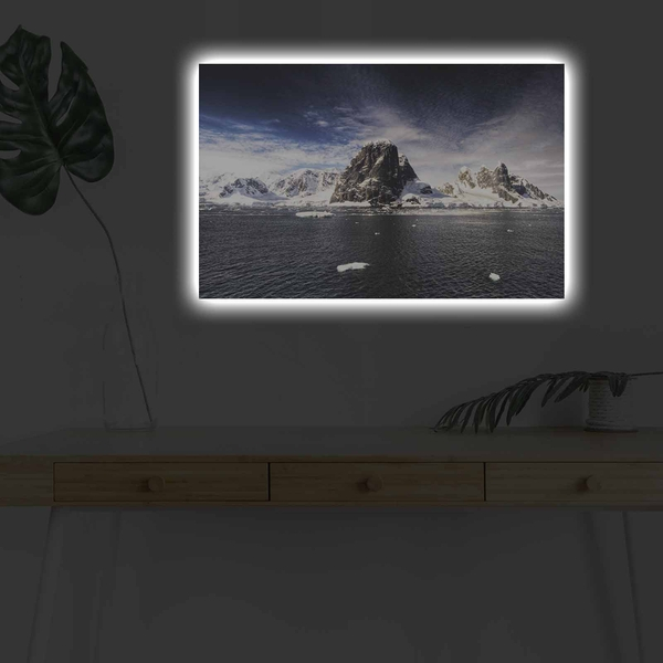 4570DHDACT-061 Multicolor Decorative Led Lighted Canvas Painting