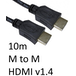HDMI 1.4 (M) to HDMI 1.4 (M) 10m Black OEM Display Cable - Image 2