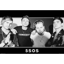 5 Second of Summer - Group Black and White Maxi Poster