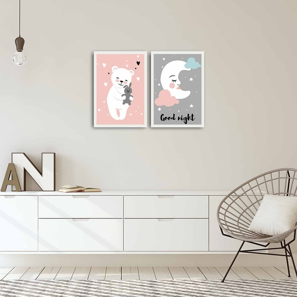 2PBCT-04 Multicolor Decorative Framed MDF Painting (2 Pieces)