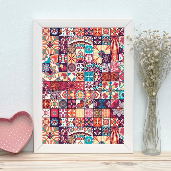 BC409475566 Multicolor Decorative Framed MDF Painting