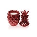 Red Metallic Concrete Pineapple For Her Candle - Image 2