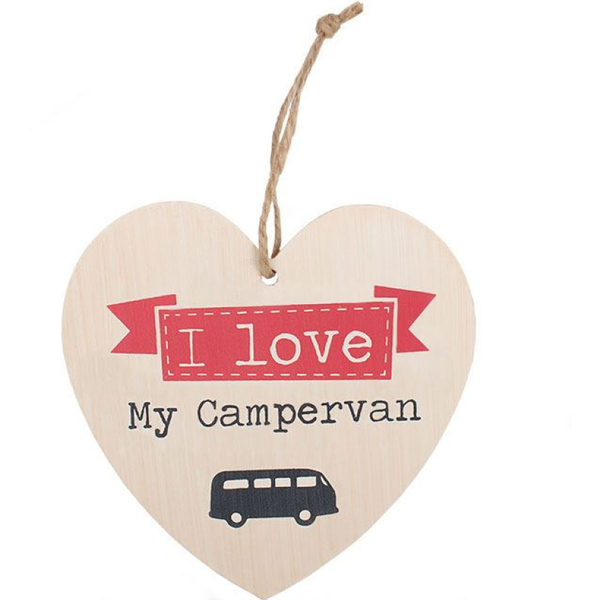 Love My Campervan Heart Plaque