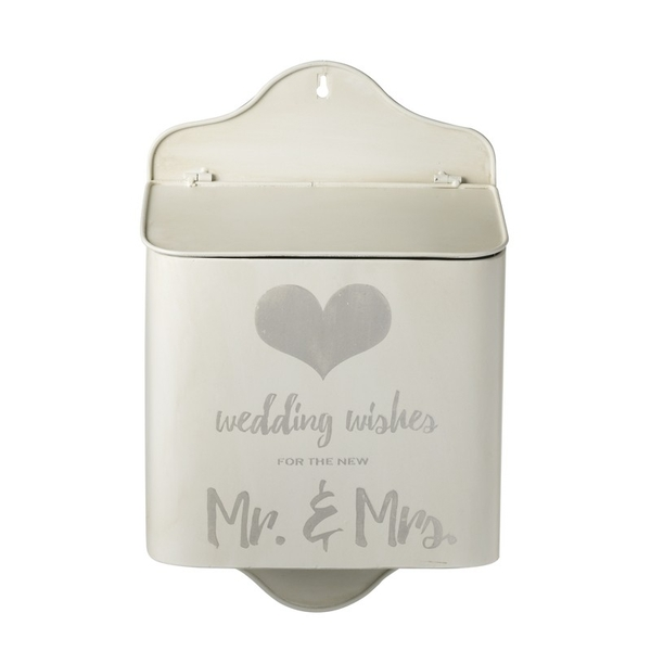Metal Wedding Wishes Box By Heaven Sends