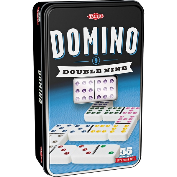 Double 9 Domino Tin Board Game - Image 1
