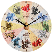 Hatching Time Wall Clock by Anne Stokes