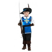 Musketeer Costume Age 7-9 One Colour