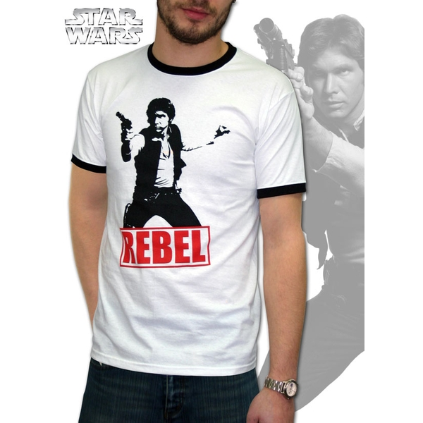 Star Wars - Han Solo Rebel Men's X-Large T-Shirt - White