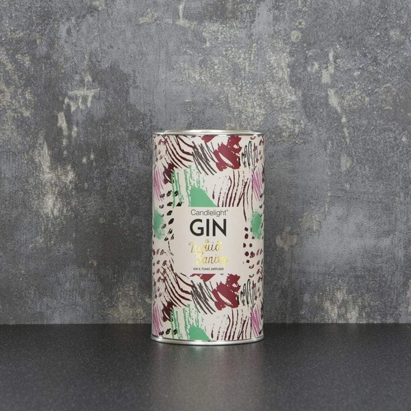 Candlelight Gin is Liquid Sanity Reed Diffuser with Ring Pull top Gin and Tonic Scent 75ml