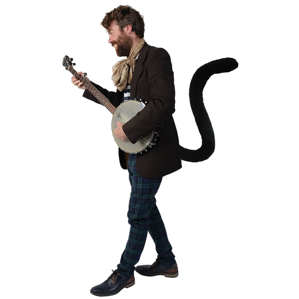 TellTails - Wearable Black Cat Tail for Adults