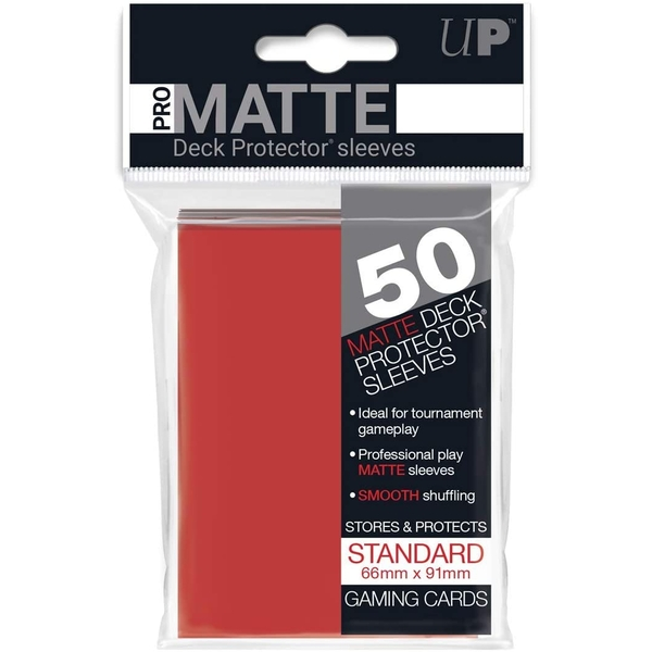 Ultra Pro Matte Standard Deck Protectors (50 Sleeves) - Red