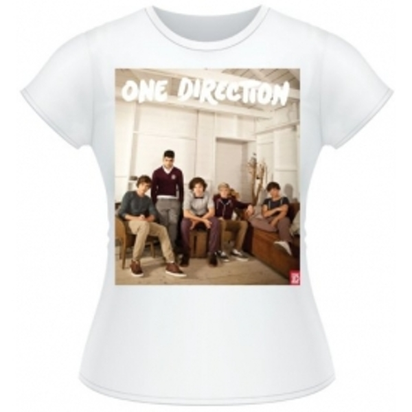 One Direction Band Lounge Colour Skinny White TS: Small