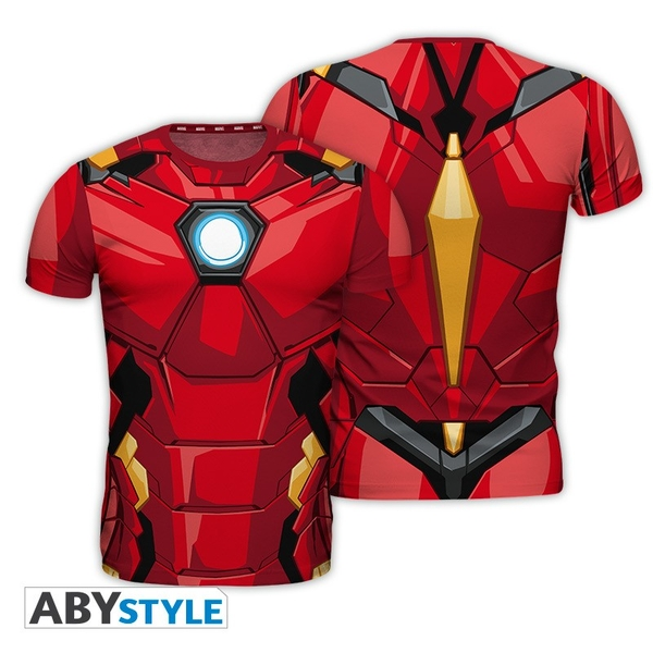 "Marvel - Replica ""Iron Man"" Mens Small T-Shirt - Milti-Colour"