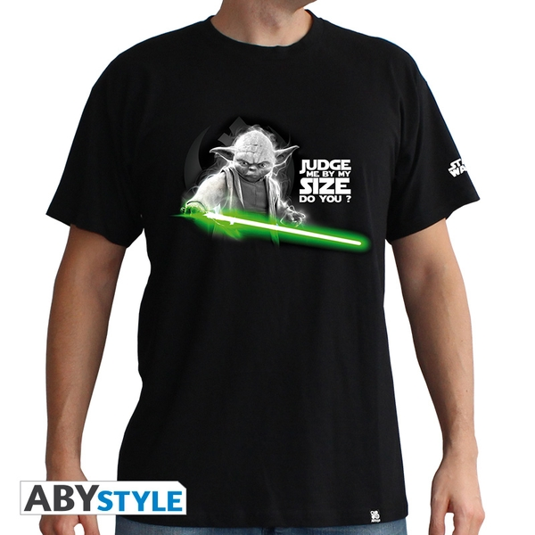 "Star Wars - Yoda"" Men's Large T-Shirt - Black"