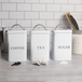 Stainless Steel Tea, Coffee & Sugar Canisters | M&W White - Image 7