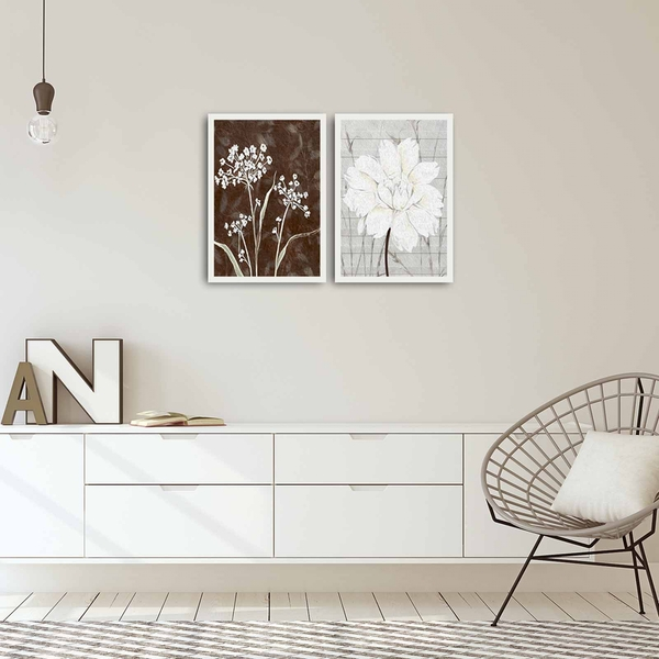 2PBCT-03 Multicolor Decorative Framed MDF Painting (2 Pieces)
