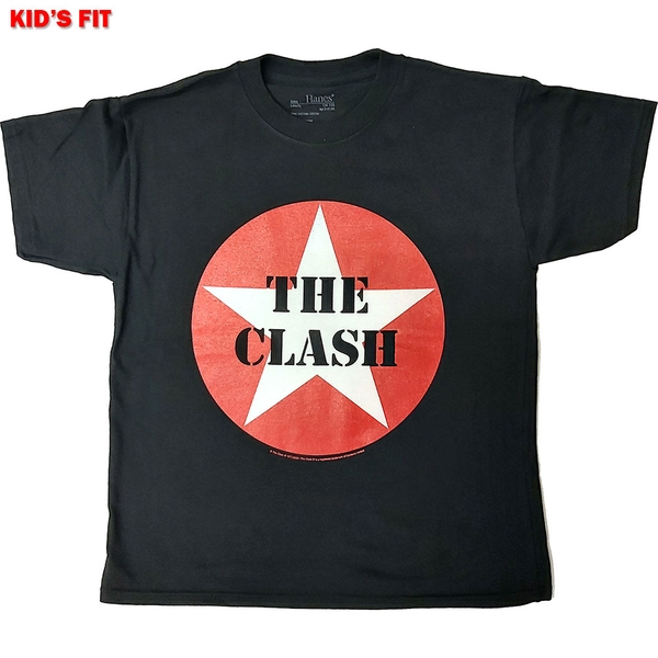 The Clash - Classic Star Kids 12 - 13 Years T-Shirt - Black