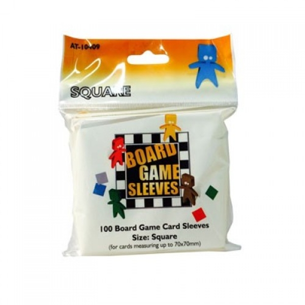 Board Game Sleeves - Square (fits cards of 69x69mm) - 10 Packs