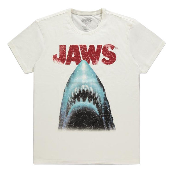 Universal - Jaws Movie Poster Mens X-Large T-Shirt - White