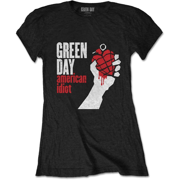 Green Day - American Idiot Women's Large T-Shirt - Black