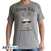 Lapins Cretins - Thug Life Men's Large T-Shirt - Grey