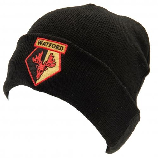 Watford FC Turn Up Knitted Hat