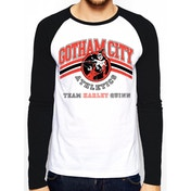 Batman - Team Harley Quinn Men's Large Long Sleeved T-shirt - White