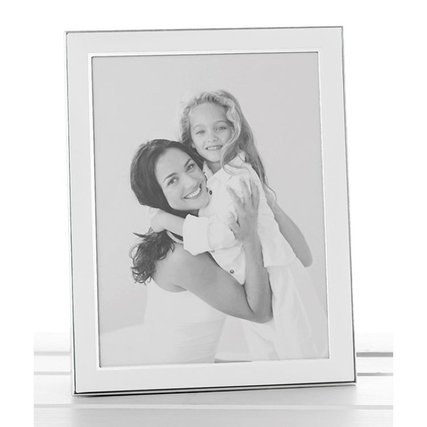 Plain White Silver Promotion Frame 4x6