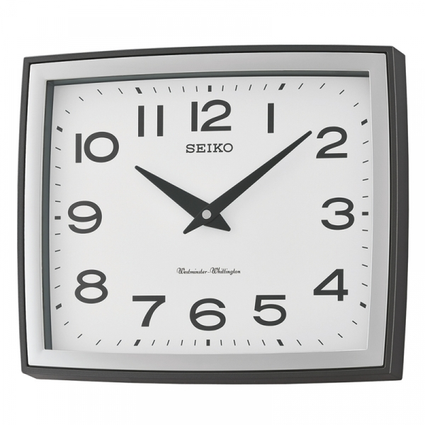 Seiko QXD211K Westminster/Whittington Dual Chime Wall Clock Silver Case