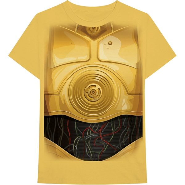Star Wars - C-3PO Chest Men's X-Large T-Shirt - Yellow