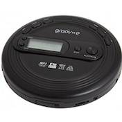 Groov-e GVPS210 Retro Series Personal CD Player with Radio Black