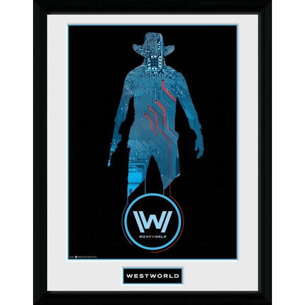 Westworld Silhouette Framed Collector Print