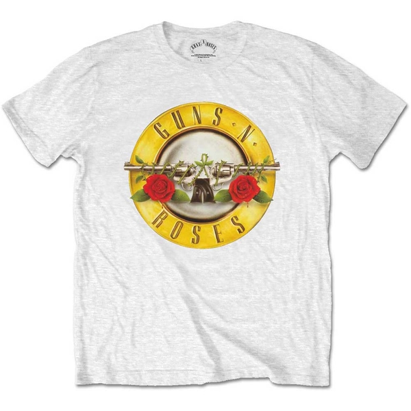 Guns N' Roses - Classic Logo Men's Small T-Shirt - White