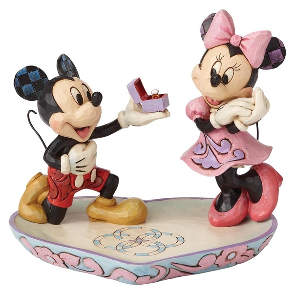 A Magical Moment (Mickey Proposing to Minnie Mouse Figurine) Disney Traditions Figurine