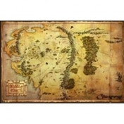 The Hobbit Map Maxi Poster