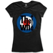The Who Target Classic Black Ladies TShirt Size: X Large
