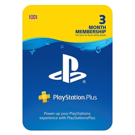 PlayStation PSN 3 Month Wallet Top Up Card PS4, PS3 & PS Vita - UK Account