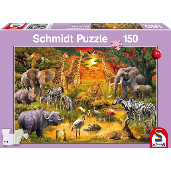 Animals of Africa 150 Piece Jigsaw Puzzle