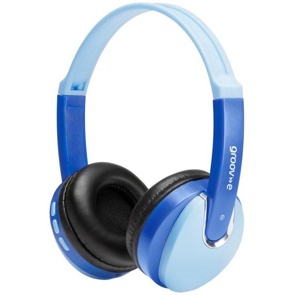 Groov-e GVBT590BE Kidz Wireless Bluetooth DJ Style Headphones - Blue
