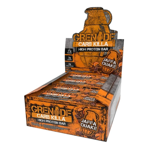 Grenade Jaffa Quake (Pack Of 12) Carb Killa Bar